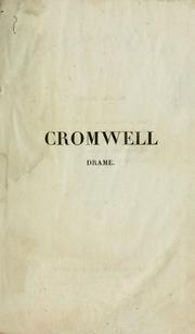 Cover of: Cromwell | Victor Hugo