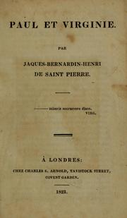 Cover of: Paul et Virginie | Bernardin de Saint-Pierre