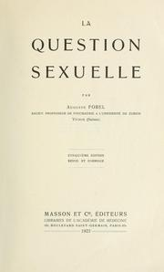 Cover of: La question sexuelle by Auguste Forel