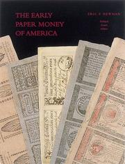 Cover of: The early paper money of America