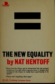 Cover of: The new equality