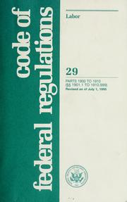 Cover of: Code of federal regulations |