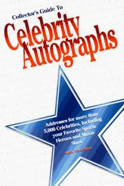 Cover of: Collector's guide to celebrity autographs