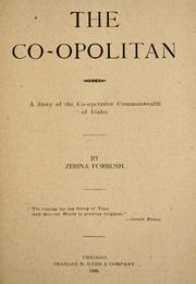 Cover of: The co-opolitan | Zebina Forbush