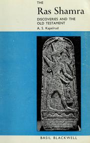 Cover of: The Ras Shamra discoveries and the Old Testament | Arvid Schou Kapelrud
