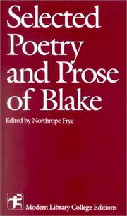 Cover of: Selected Poetry and Prose