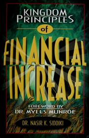 Cover of: Kingdom principles of financial increase | Nasir K. Siddiki