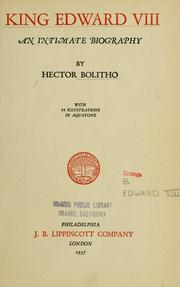 Cover of: King Edward VIII | Hector Bolitho