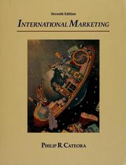 Cover of: International marketing | Philip R. Cateora
