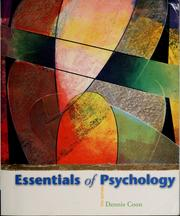 Cover of: Essentials of psychology | Dennis Coon