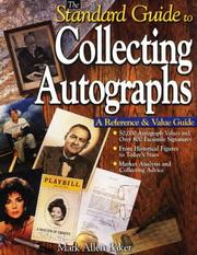 Cover of: The standard guide to collecting autographs