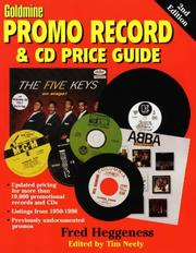 Cover of: Goldmine promo record & CD price guide