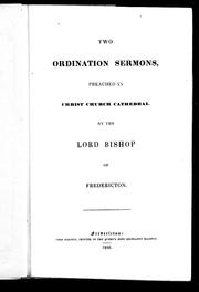 Cover of: Two ordination sermons preached in Christ Church Cathedral | John Medley