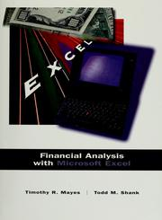 Cover of: Financial analysis with Microsoft Excel | Timothy R. Mayes