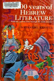Cover of: 3,000 years of Hebrew literature | Nathaniel Kravitz