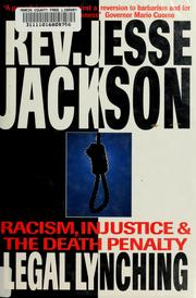 Cover of: Legal lynching | Jesse Jackson