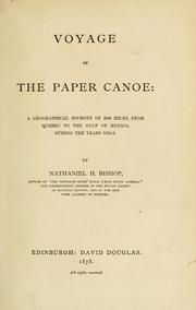 Cover of: Voyage of the paper canoe | Nathaniel H. Bishop