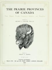 Cover of: The Prairie Provinces of Canada | Henry J. Boam