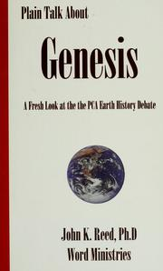 Cover of: Plain talk about Genesis | Reed, John K.