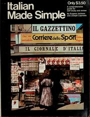 Cover of: Italian made simple | Eugene Jackson