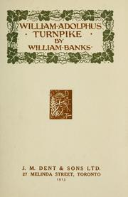 Cover of: William Adolphus Turnpike. -- by Banks, William
