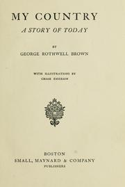 Cover of: My country | Brown, George Rothwell. n