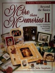 Cover of: More Than Memories II |