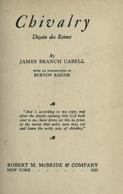 Cover of: Chivalry | James Branch Cabell