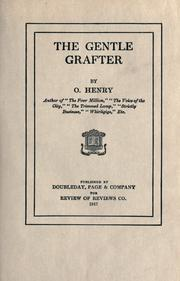Cover of: The gentle grafter | O. Henry