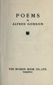 Cover of: Poems. -- | Gordon, Alfred