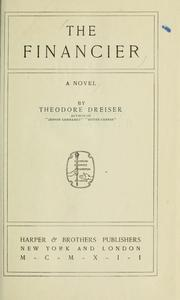 Cover of: The financier. -- | Theodore Dreiser