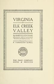 Cover of: Virginia of Elk Creek valley | Mary Ellen Chase