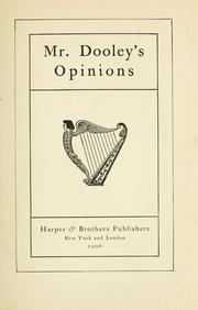 Cover of: Mr. Dooley's opinion. -- by Irvin Lansing Streeter