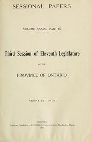 Cover of: Ontario Sessional Papers | Ontario. Legislative Assembly.