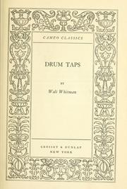 Cover of: Drum taps. -- | Walt Whitman