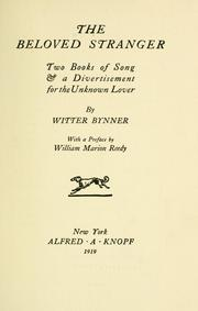 Cover of: The beloved stranger | Witter Bynner