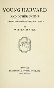 Cover of: Young Harvard | Witter Bynner