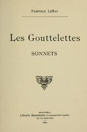 Cover of: Les gouttelettes | Pamphile Lemay