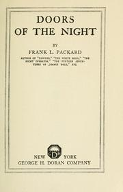 Cover of: Doors of the night | Frank L. Packard
