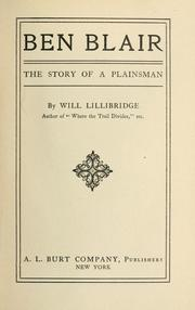 Cover of: Ben Blair | William Otis Lillibridge