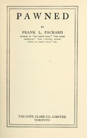 Cover of: Pawned | Frank L. Packard