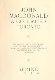 Cover of: John Macdonald & Co. Limited, Toronto |
