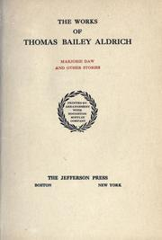 Cover of: Works. -- | Thomas Bailey Aldrich