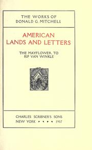 Cover of: American lands and letters. -- | Donald Grant Mitchell
