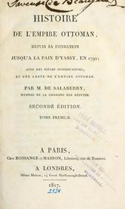 Cover of: Histoire de l'Empire Ottoman | Salaberry d'Irumberry, Charles Marie, marquis de