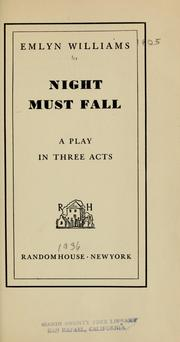 Cover of: Night must fall | Emlyn Williams
