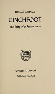 Cover of: Cinchfoot | Thomas C. Hinkle