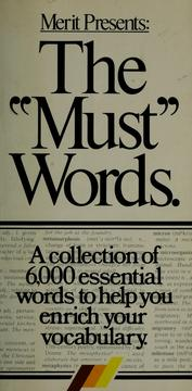 "Cover of: The ""must"" words 