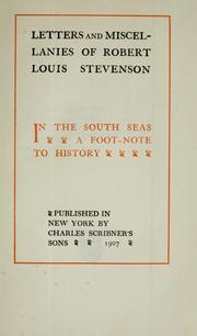 Cover of: In the south seas | Robert Louis Stevenson