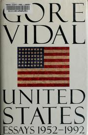 Cover of: United States | Gore Vidal